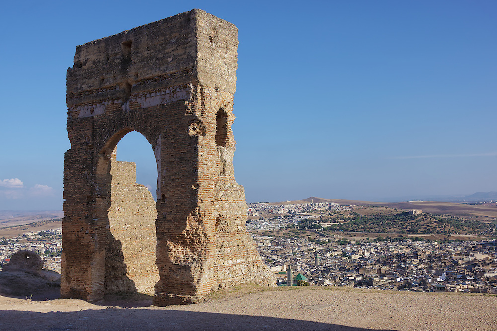 Ruins of Merinid palace and necropolis in Fés, Morocco.