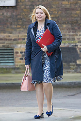 Downing Street, London, March 21st 2017. Secretary of State for Culture, Media and Sport Karen Bradley attends the weekly cabinet meeting at 10 Downing Street.