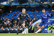Sheffield Wednesday midfielder Barry Bannan (10)  battles with Chelsea Midfielder Ruben Loftus-Cheek during the The FA Cup fourth round match between Chelsea and Sheffield Wednesday at Stamford Bridge, London, England on 27 January 2019.