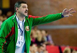 Coach of Belarus Konstantin Charovarov at Women European Championships Qualifying handball match between National Teams of Slovenia and Belarus, on October 17, 2009, in Kodeljevo, Ljubljana.  (Photo by Vid Ponikvar / Sportida)