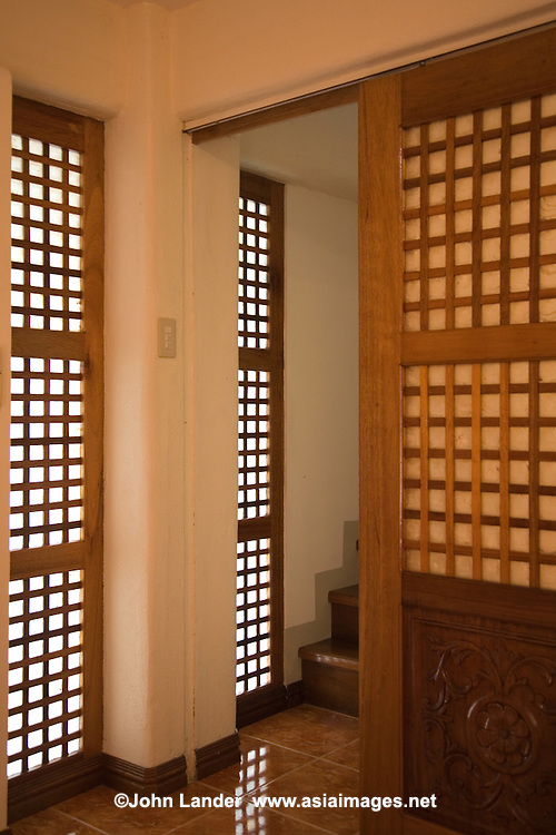 "Filipino doors and windows may resemble Japanese ""shoji"" or sliding paper doors, but the ones in the Philippines are made of translucent shells rather than rice paper, as in Japan."