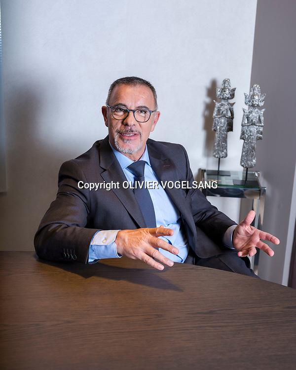 Lausanne, mars 2018. Dimitri Djordjèvic, directeur général, Chief Executive Officer à la clinique La Source, avenue Vinet 30. © Olivier Vogelsang