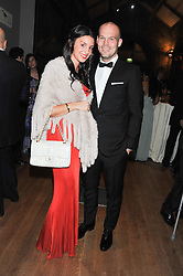 Footballer FREDDIE LJUNGBERG and NATALIE FOSTER at the annual Chain of Hope's annual Gala Ball held at the Natural History Museum, London on 8th November 2012.