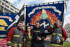 25 Feb.2015 - Striking firefighters demand answers but find deaf ears at Parliament