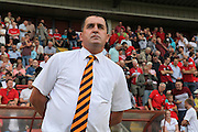Barnet Manager, Martin Allen during the Sky Bet League 2 match between Leyton Orient and Barnet at the Matchroom Stadium, London, England on 8 August 2015. Photo by Bennett Dean.