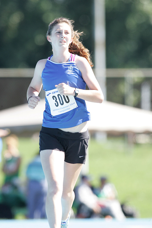 Emily Case competing in the 3000m at the 2007 Ontario Legion Track and Field Championships. The event was held in Ottawa on July 20 and 21.