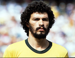 Socrates lines up for Brazil before the World Cup match between Brazil and Italy, World Cup 1982.