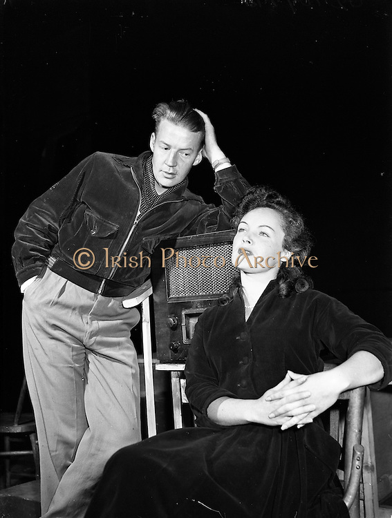 "13/8/1955<br /> 8/13/1955<br /> 13 August 1955 <br /> Abbey Theatre Players in Costume for New Play ""The Will And The Way"""