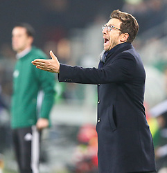 20.10.2016, Weststadion, Wien, AUT, UEFA EL, SK Rapid Wien vs US Sassuolo Calcio, Gruppe F, im Bild Eusebio Di Francesco (US Sassuolo Calcio) // during a UEFA Europa League group F match between SK Rapid Vienna and US Sassuolo Calcio at the Weststadion, Vienna, Austria on 2016/10/20. EXPA Pictures © 2016, PhotoCredit: EXPA/ Thomas Haumer