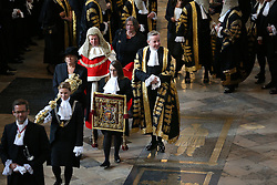 © Licensed to London News Pictures. 01/10/2015. London, UK. The Lord Chancellor and Secretary of State for Justice MICHAEL GOVE (C) takes part in the annual Judges Service at Westminster Abbey. The Service heralds the start of the legal year in the United Kingdom. Photo credit: Peter Macdiarmid/LNP