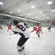 Rebecca Lindblad, UConn, in action during the UConn Vs Boston University, Women's Ice Hockey game at Mark Edward Freitas Ice Forum, Storrs, Connecticut, USA. 5th December 2015. Photo Tim Clayton
