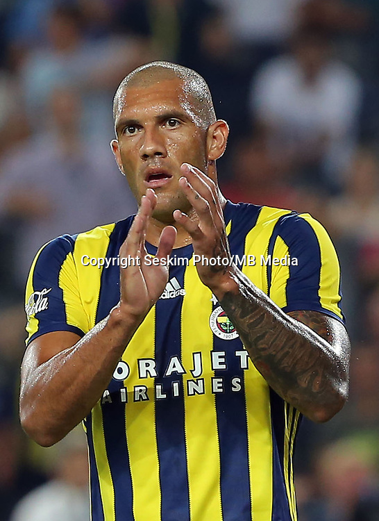 UEFA Europa league Playoff first leg match between Fenerbahce and Grasshoppers at Ulker Stadium in Istanbul on August 18 , 2016.<br /> Pictured:  Jose Fernandao  of Fenerbahce .