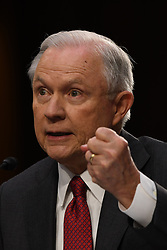 June 13, 2017 - Washington, District of Columbia, U.S.- Attorney General JEFF SESSIONS testifies at a U.S. Senate Intelligence Committee hearing on Russian interference with U.S. elections.  (Credit Image: © Mark Reinstein via ZUMA Wire)