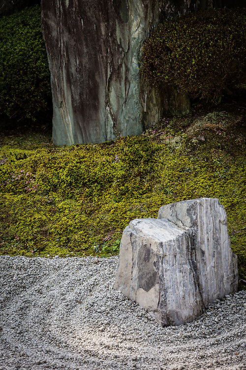 A Zen garden in one of the temples in Tofukuji temple complex, Kyoto