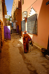 An old man walks up a side street in Tinghir, Morocco<br /> <br /> (c) Andrew Wilson | Edinburgh Elite media