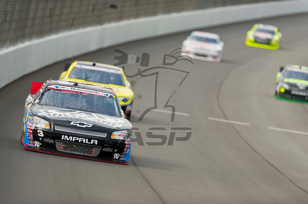 BROOKLYN, MI - JUN 16, 2012:  The NASCAR Nationwide Series teams take to the track for the running of the Alliance Truck Parts 250 at the Michigan International Speedway in Brooklyn, MI.
