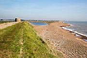 Coastal landscape North Sea coast, Bawdsey, Suffolk, England, UK