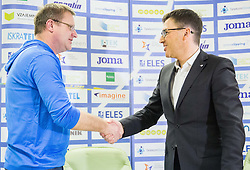 Lado Mesarič and Roman Dobnikar during press conference when Slovenian athletes and their coaches sign contracts with Athletic federation of Slovenia for year 2016, on February 25, 2016 in AZS, Ljubljana, Slovenia. Photo by Vid Ponikvar / Sportida
