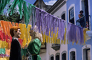 Olinda. The preparations for the Carnival begin many months before the event as elaborate costumes are designed and produced over a period of months. Silvio Botelho's bonecos, puppets.