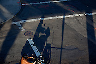 New York.  pedestrians shadows at sunset in meat packing district  , Manhattan,  New York - United states  /  ombres des passants dans le meat packing New York - Etats-unis
