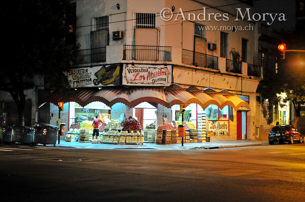 Night Street Scene, Buenos Aires, Argentina Image by Andres Morya