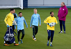 Claudio Bravo of Manchester City trains with team mates - Mandatory by-line: Matt McNulty/JMP - 12/09/2017 - FOOTBALL - City Football Academy - Manchester, England - Feyenoord v Manchester City - Training Session - UEFA Champions League - Group F