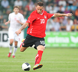 11.08.2010, Waldstadion Pasching, Pasching, AUT, UEFA U21 EM Qualifikation, Oesterreich vs Weissrussland, im Bild Marko Arnautovic,(Austria, Mittelfeld, #10), EXPA Pictures © 2010, PhotoCredit: EXPA/ R. Hackl / SPORTIDA PHOTO AGENCY