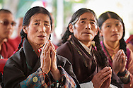 Tibetan women attending the geshema ceremony at Drepung Lachi in Mundgod, Karnataka, India on December 22, 2016.