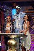 (l to r) Eve, Shaq, and Shakara present an award at The Source Hip-Hop Music Awards 2001 at the Jackie Gleason Theater in Miami Beach, Florida.  8/20/01  Photo by Scott Gries/ImageDirect