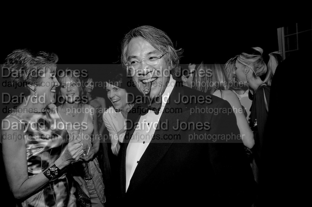 LUCY TANG; DAVID TANG, The Ormeley dinner in aid of the Ecology Trust and the Aspinall Foundation. Ormeley Lodge. Richmond. London. 29 April 2009