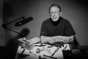 Artist Doug Lamont, dreaming of wood.