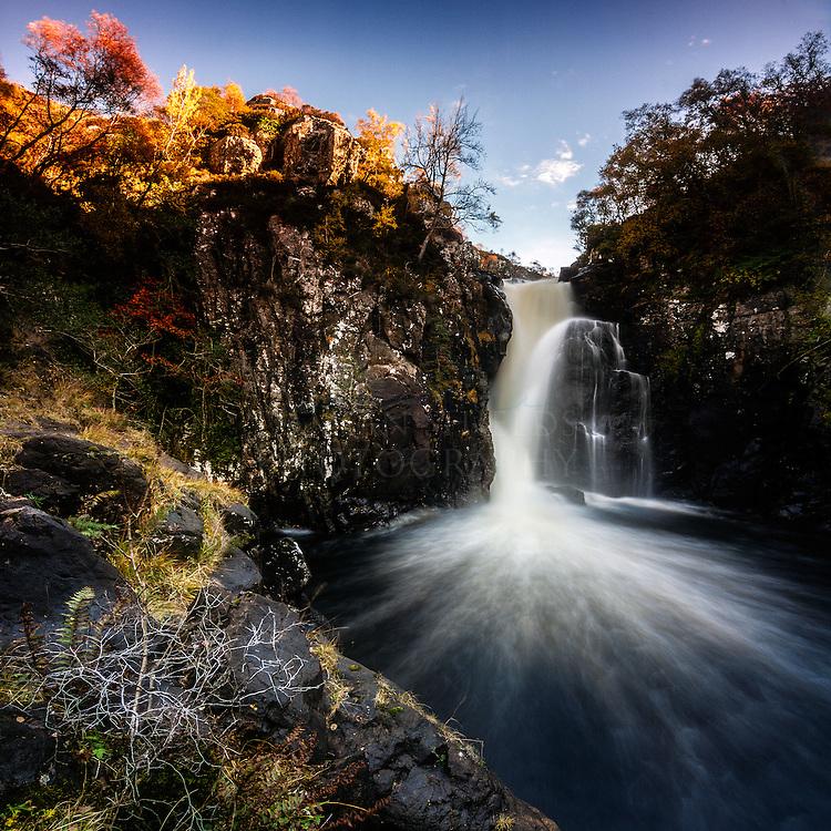 The falls of Kirkaig, Assynt