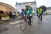 Cyclists Participating in Paris Brest Paris Ultra Endurance Race - France