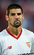 "SEVILLE, SPAIN - NOVEMBER 01:  Manuel Agudo ""Nolito"" of Sevilla FC looks on priot to the UEFA Champions League group E match between Sevilla FC and Spartak Moskva at Estadio Ramon Sanchez Pizjuan on November 1, 2017 in Seville, Spain.  (Photo by Aitor Alcalde Colomer/Getty Images)"