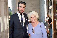 Zachary Quinto and Fionnula Flannagan  at the closing of  25th Galway Film Fleadh. Photo:Andrew Downes