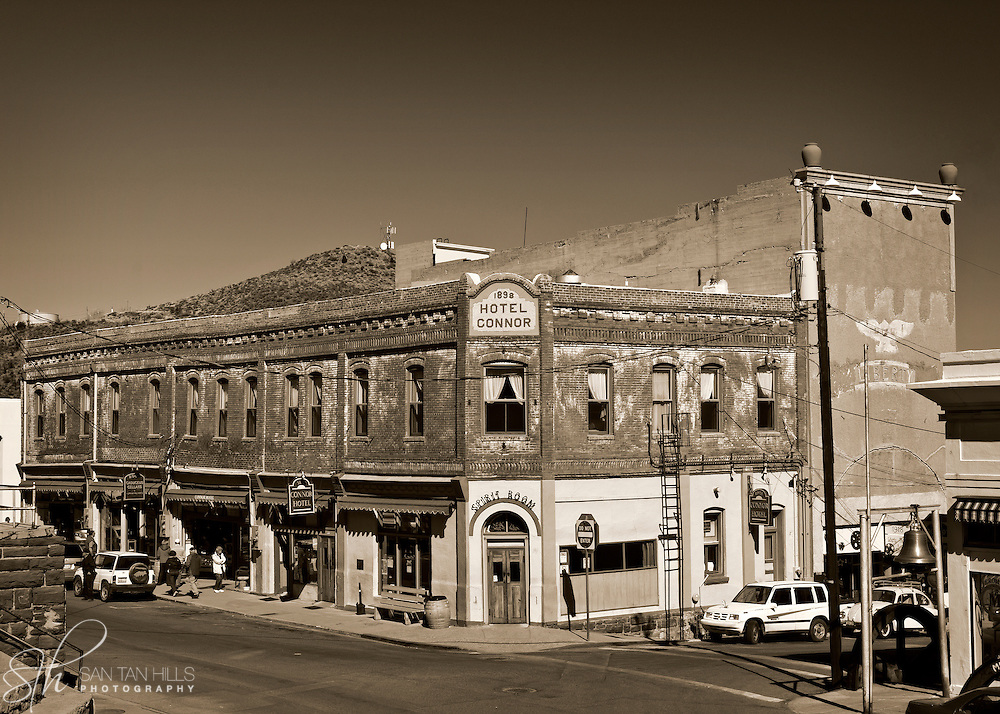 The Hotel Connor, at the corner of Main and Jerome - Jerome, AZ