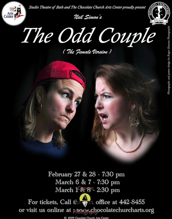 Presentation of The Odd Couple at Chocolate Church Arts Center