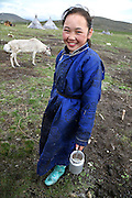 Stunning images reindeer herders of Mongolia<br /> <br /> Tsaatan people are reindeer herders and live in northern Kh&ouml;vsg&ouml;l Aimag of Mongolia. Originally from across the border in what is now Tuva Republic of Russia,the Tsaatan are one of the last groups of nomadic reindeer herders in the world. They survived for thousands of years inhabiting the remotest Ulaan ta&iuml;ga, moving between 5 and 10 times a year. <br /> The reindeer and the Tsaatan people are dependent on one another. Some Tsaatan say that if the reindeer disappear, so too will their culture. The Tsaatan depend on the reindeer for almost, if not all, of their basic needs:  their reindeers provide them with milk, cheese, meat, and transportation. They sew their clothes with reindeer hair, reindeer dung fuels their stoves and antlers are used to make tools. They do not use their animals for meat. This makes their group unique among reindeer-herding communities. As the reindeer populations shrink, only about 40 families continue the tradition today. Their existence is threatened by the dwindling number of their domesticated reindeer. Many have swapped their nomadic life for urban areas. <br /> <br /> Tuvshinbayar &amp; Ulziisaihan, children of Narahuu &amp; Bolorma<br /> &copy;Pascal MANNAERTS/Exclusivepix Media