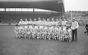 All Ireland Senior Football Final Galway v. Dublin 22nd September 1963 Croke Park...the victorious Dublin Team..Names of identified team members .Back Row Left to right  John (sean) Timmons, W Casey, M Kissane, L. Foley, L Hickey, (10th from left ) P Flynn..Front Row Left to right.D McKane, M Whelan, P Holden, N Fox, D Foley (captain), G Davey, B Mac Donald, S Behan, (10th from left) D Ferguson...Unidentified  team members.Substitutes: F McPhillips, C Kane, P Downey, A Donnelly and E Breslin...22.09.1963  22nd September 1963