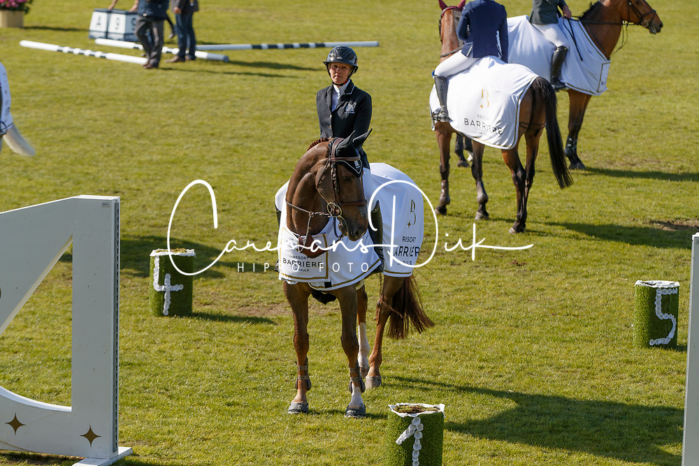 Patteet Gudrun, BEL, Sea Coast Atlantic<br /> Prix Groupe Barrière<br /> Longines Jumping International de La Baule 2017<br /> © Hippo Foto - Dirk Caremans<br /> Patteet Gudrun, BEL, Sea Coast Atlantic