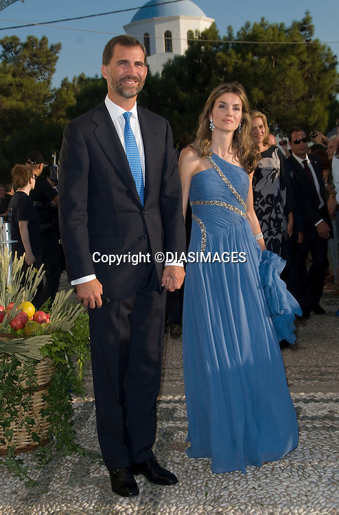 "PRINCE NIKOLAOS AND TATIANA BLATNIK WEDDING_Crown Prince Felipe and Crown Princess Letizia.St Nikolaos Church, Spetses, Greece_25/08/2010.Mandatory Credit Photo: ©DIASIMAGES..**ALL FEES PAYABLE TO: ""NEWSPIX INTERNATIONAL""**..IMMEDIATE CONFIRMATION OF USAGE REQUIRED:.Newspix International, 31 Chinnery Hill, Bishop's Stortford, ENGLAND CM23 3PS.Tel:+441279 324672  ; Fax: +441279656877.Mobile:  07775681153.e-mail: info@newspixinternational.co.uk"