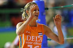10-06-2010 VOLLEYBAL: VOLLEYMASTERS 2010 NEDERLAND - POLEN: MONTREUX<br /> Nederland wint met 3-1 van Polen / Debby Stam (#16 NED)<br /> ©2010-FRH / Conny Kurth