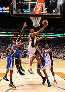 Mar. 14 2010; Phoenix, AZ, USA; Phoenix Suns forward Grant Hill (33)  puts up a shot in the first half at the US Airways Center. The Suns defeat the Hornets 120 to 106. Mandatory Credit: Jennifer Stewart-US PRESSWIRE.