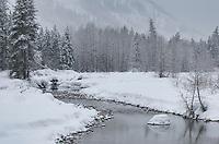 Methow River in winter, near Mazama, North Cascades Washington