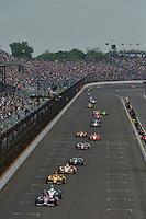 Ed Carpenter, Marco Andretti, Indianapolis 500, Indianapolis Motor Speedway, Indianapolis, IN USA 05/26/13