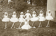 formal vintage group photo of ballerinas