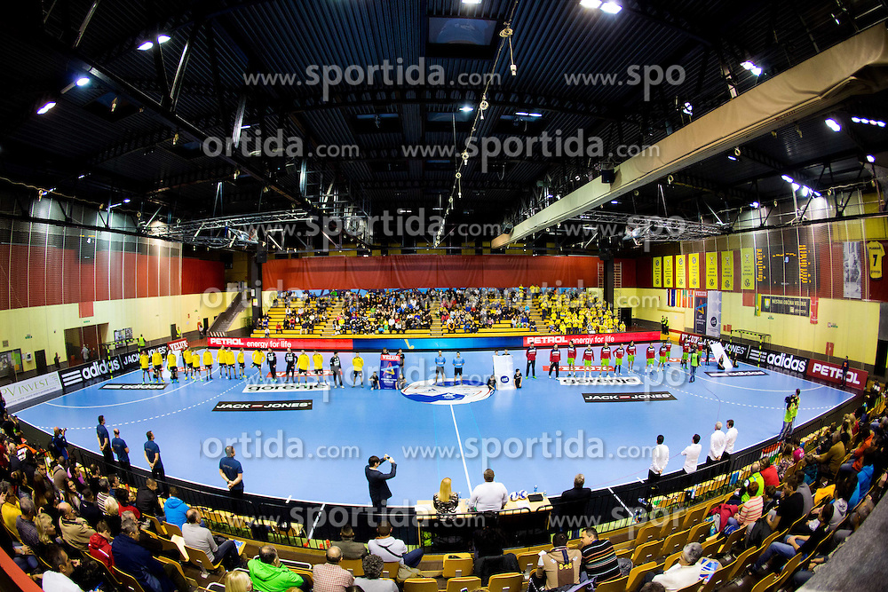 Red Arena during handball match between RK Gorenje Velenje and Naturhouse La Rioja in Round 6 of Group D of EHF Men's Champions League 2013/14, on November 23, 2013 in Rdeca dvorana, Velenje, Slovenia. Photo by Vid Ponikvar / Sportida