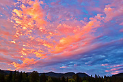 Clouds at sunrise, Fruitvale, British Columbia, Canada