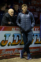 ALTRINGHAM, ENGLAND - Friday, March 10, 2017: Liverpool's coach Steven Gerrard before an Under-18 FA Premier League Merit Group A match against Manchester United at Moss Lane. (Pic by David Rawcliffe/Propaganda)