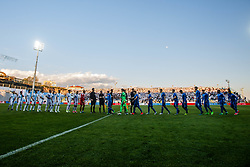 Teams HNK Rijeka and GNK Dinamo before football match between HNK Rijeka and GNK Dinamo Zagreb in Round #27 of 1st HNL League 2016/17, on November 5, 2016 in Rujevica stadium, Rijeka, Croatia. Photo by Grega Valancic / Sportida